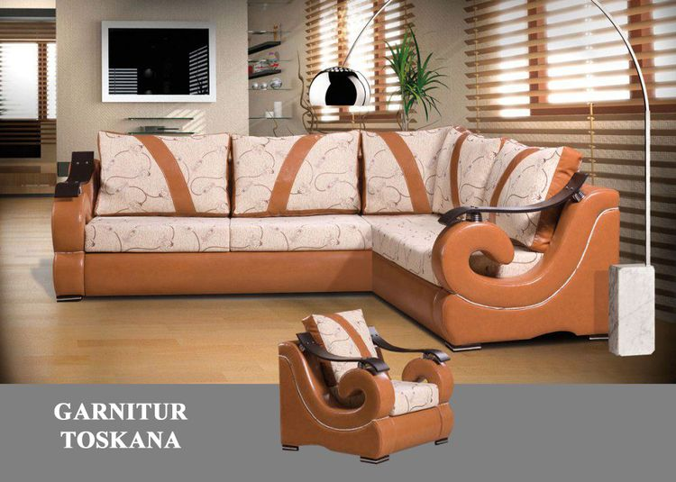 ecksofa mit sessel livingcomfort. Black Bedroom Furniture Sets. Home Design Ideas