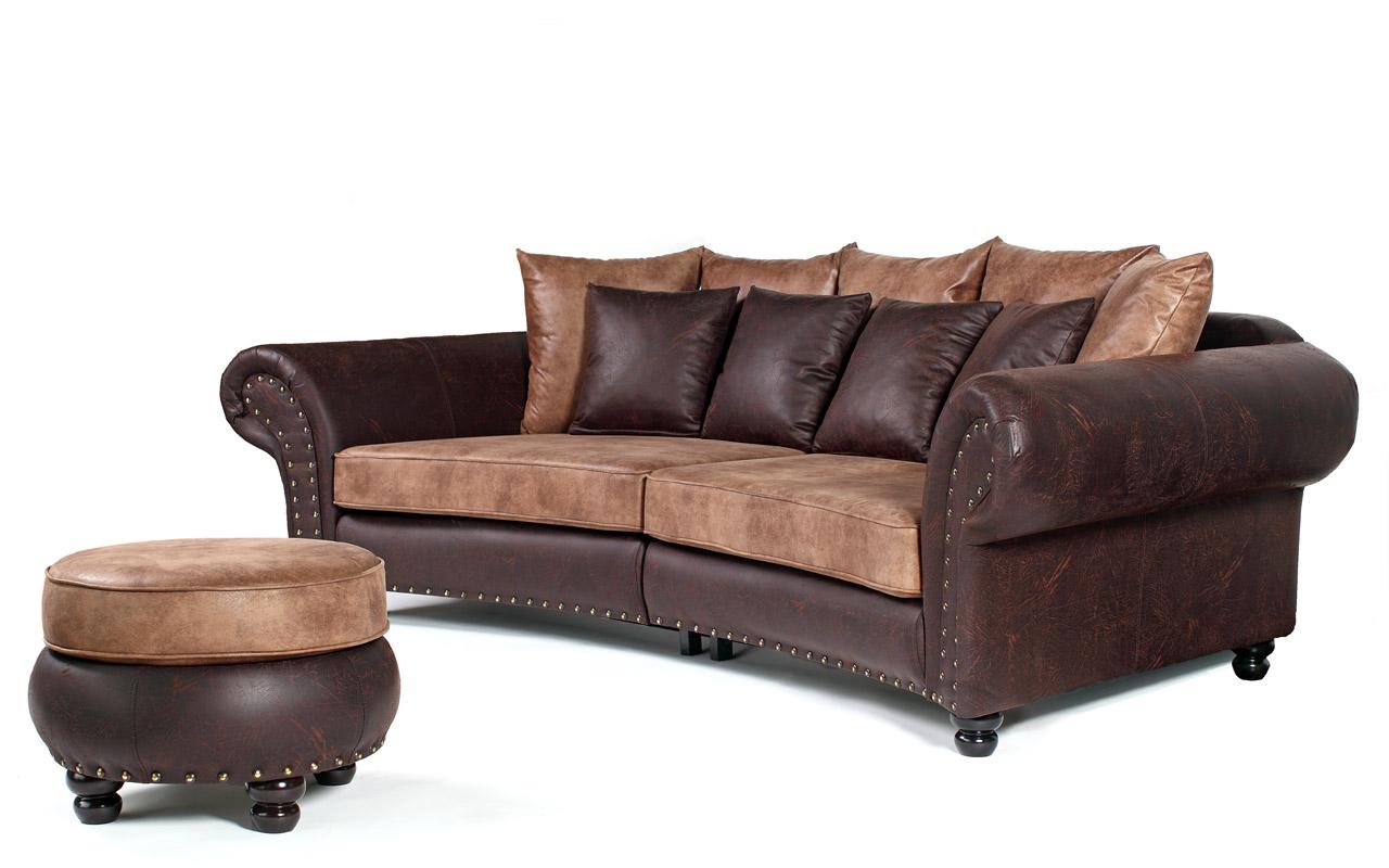 Sofagarnitur im kolonialstil mit mega ohrensessel und for Ohrensessel und sofa