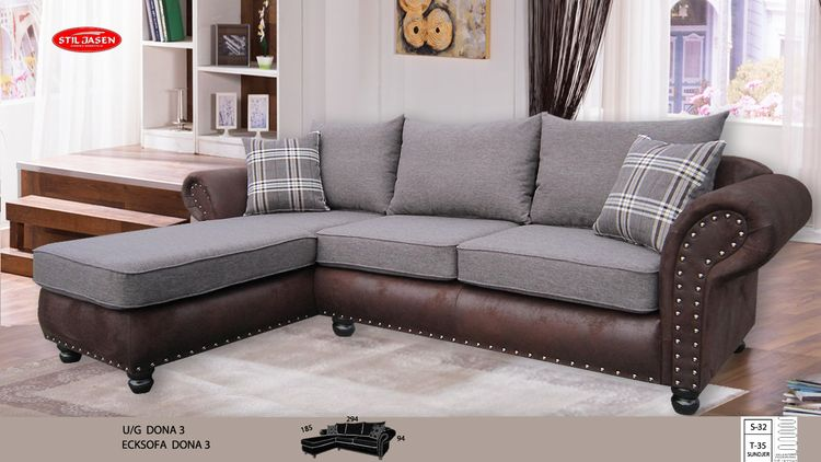 ecksofa dona 3 kolonialstil livingcomfort. Black Bedroom Furniture Sets. Home Design Ideas