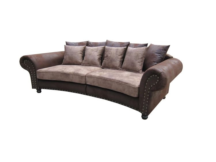 Sofa im Kolonialstil Hawana Big Sofa Wildlederoptik