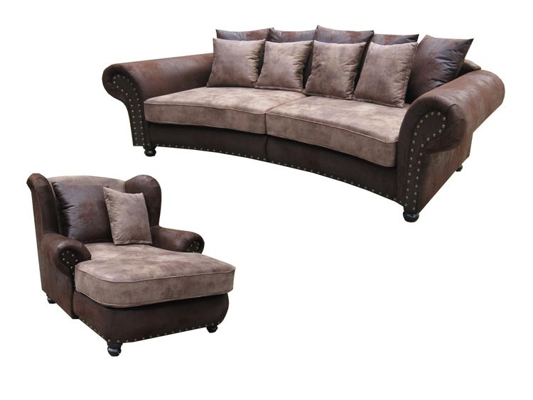 big sofa mit sessel bestseller shop f r m bel und. Black Bedroom Furniture Sets. Home Design Ideas