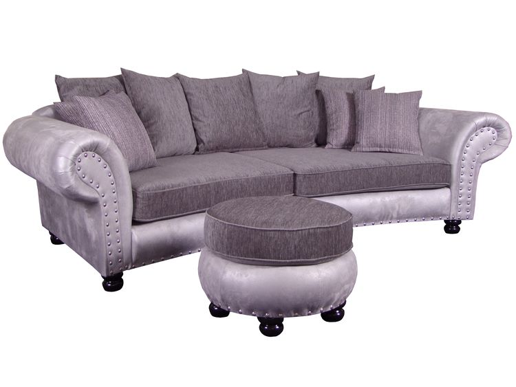 Big Sofa Hawana inkl. Hocker Megasofa Kolonialstil
