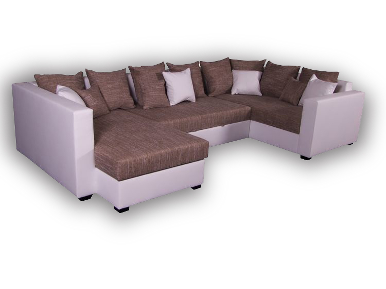 U-Form Sofa Nills mit Schlaffunktion & Bettkasten Links