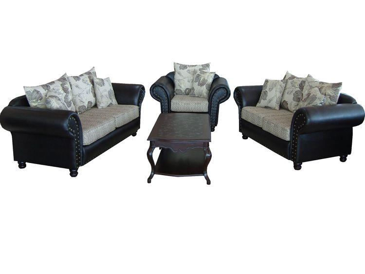 Sofagarnitur 3er mit 2er und Sessel im Kolonialstil