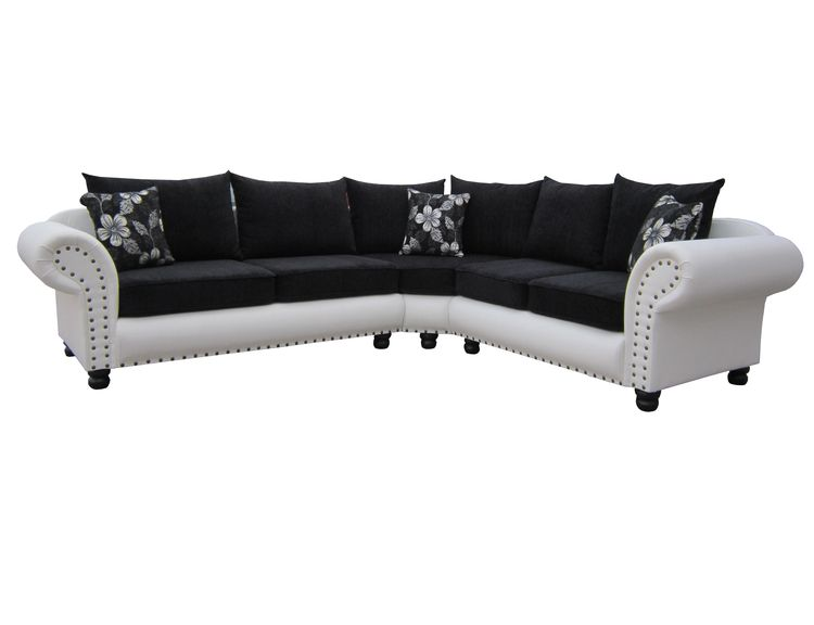 Ecksofa Rundecke Couch Polsterecke Dona 2