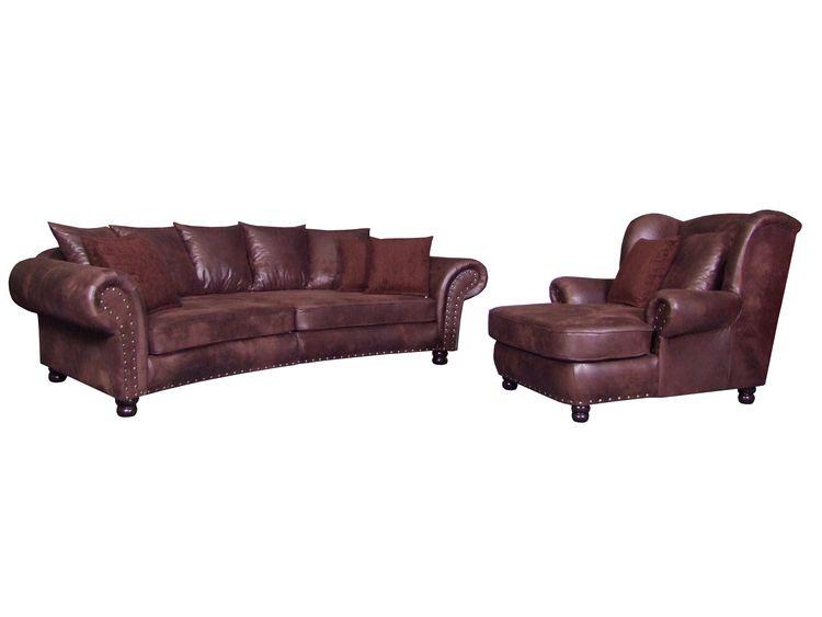 Sofa kolonialstil mit Big Sessel - Megasofa Megasessel Couch