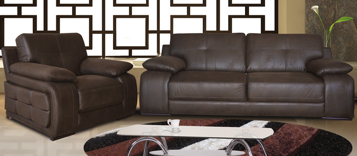 Sofa Exclusive Garnitur mit Sessel