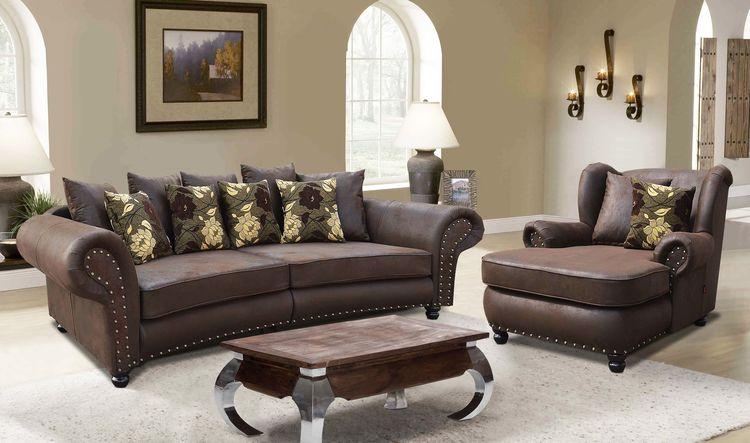 Big Sofa  Mega Ohrensessel im koloniastil