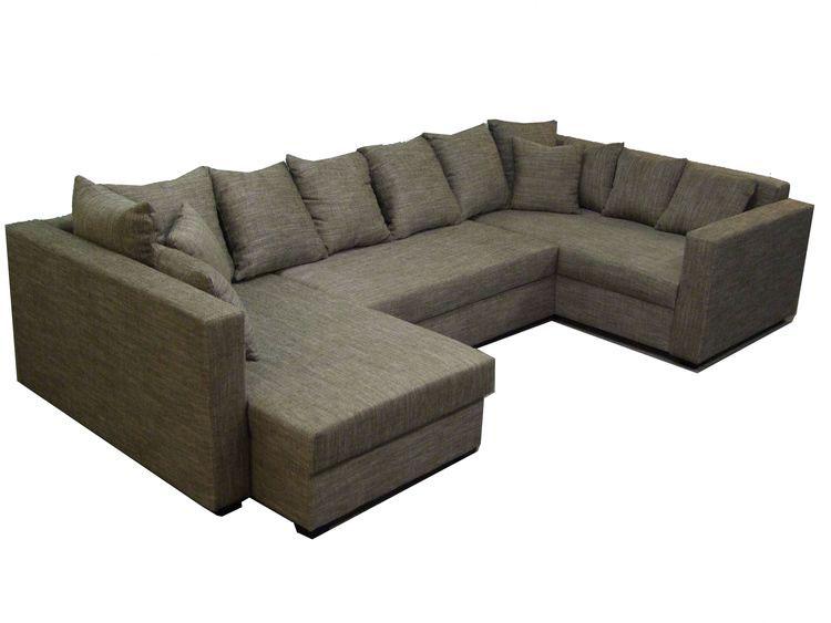 U-Form Sofa mit Schlaffunktion & Bettkasten