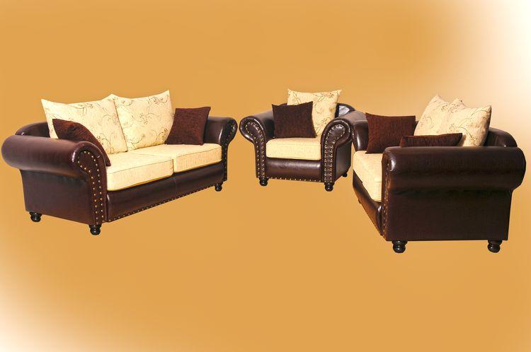 Sofa 3er 2er Sessel im Kolonialstil