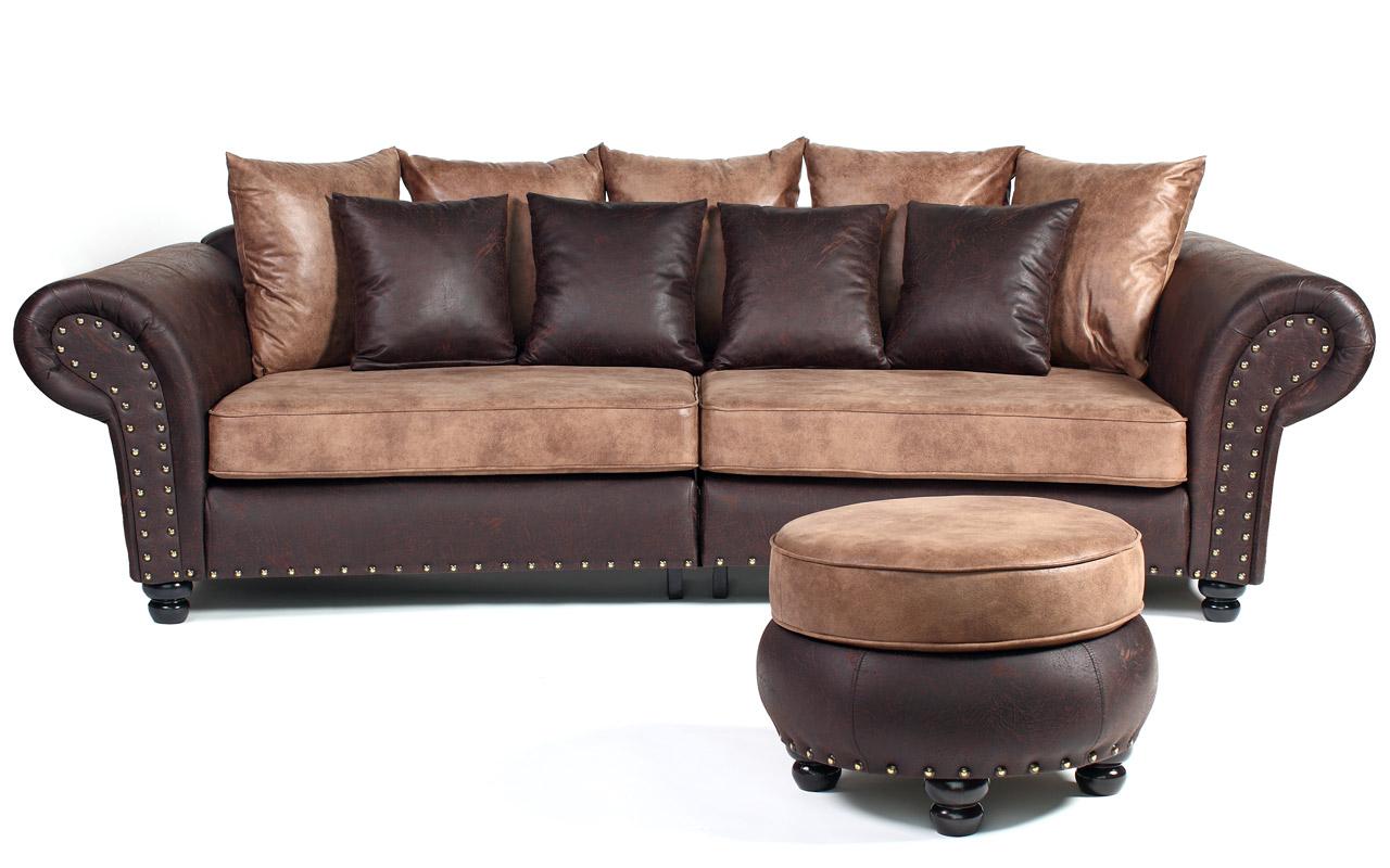 Couch Big Sofa Hawana Kolonialstil Inkl. Big Sessel Und