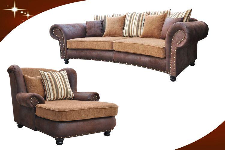 couch big sofa hawana kolonialstil inkl big sessel und hocker kopie os livingcomfort. Black Bedroom Furniture Sets. Home Design Ideas